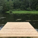 Out with the old and in with a new Cedar Dock in Blairstown, NJ.