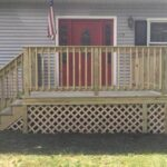 Here is a new Deck over an old front porch in Montague, NJ.