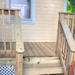 We built this porch over the summer and are now applying solid Stain before winter. Plus, a door replacement in Morristown, NJ.