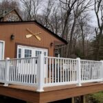 New Trex Company Transcend Tiki Torch decking with RDI Endurance railings in Lake Hopatcong, NJ.