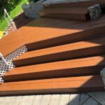 Pressure washing with Chestnut brown solid stain applied in Lake Hopatcong, NJ.