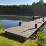 When you need to get a couple more years out of an older Dock. New support legs and cross bracing installed in Warren County, NJ.