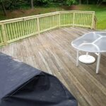 What do you do when a tree comes crashing through the Railings on your Deck in Whippany, NJ?