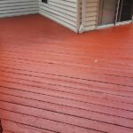 Another Deck repaired then Pressure washed with Olympic Elite solid Stain applied in Hampton Commons Color = Cumaru in Newton, NJ.