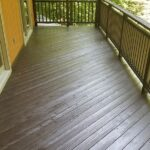Two Decks Pressure washed with multiple repairs made to the Decking and Railings with 2 Coats of Olympic Elite solid stain applied. Color = Wenge in Blairstown, NJ.