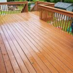 Multiple Railing & Deck repairs done with Olympic Elite solid stain applied. Color = Timberline in Stanhope, NJ.