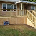 Out with the old and in with a new wood Deck giving this home a fresh look in Hopatcong, NJ.