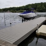 Second life for this Dock with new Trex Decking installed. Color = Gravel Path in Lake Hopatcong, NJ.
