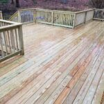Here's another new pressure treated wood Deck just finished in Lake Mohawk, NJ.
