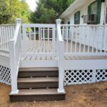 From unusable and out of code to a new Trex Transcend Deck with Spiced Rum Decking and RDI Endurance Railings in Washington, NJ.