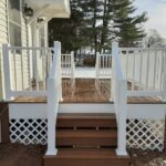 Just-in-time for some holiday cheer another Trex Deck is here. Trex Transcend Decking in Havana Gold with RDI Endurance Railings in Port Murray, NJ.