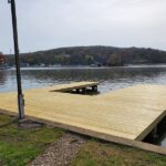 Another new Wood Dock ready for summer in Lake Hopatcong, NJ.