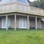 New 2,000 Square Foot PT Wood Wrap-Around Deck for Asbury Home