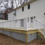 New Wood Deck with RDI Endurance Railings and Privacy Wall in Flanders, NJ