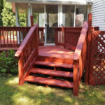 Before and After Deck Pressure Washing
