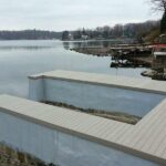 Concrete Dock Work and Trex Decking in Lake Hopatcong, NJ