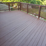Deck Pressure Wash and Staining- Before and After