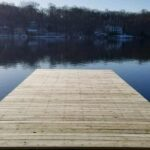 New PT Wood Dock in Lake Hopatcong, NJ