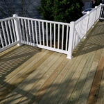 New Wood Deck with RDI Endurance Railings in Hackettstown, NJ
