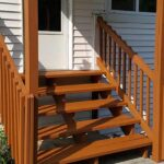 Staining of Exterior Steps