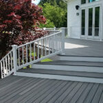 Trex Transcend Deck in Island Mist with White PVC Railings in Long Valley, NJ