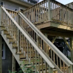 Wood Deck with Privacy Wall in Hackettstown, NJ