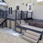 When all you want for Christmas is a new Trex Deck with Trex Transcend Decking & Lattice in Rope Swing color and Black RDI AVALON Aluminum Railings in Sparta, NJ.