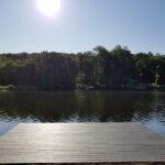Day 1 of enjoying this new Trex Dock on Crandon Lakes. Color = Island Mist in Newton, NJ.
