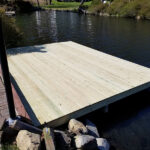 Another new Dock on Lake Mohawk ready for Spring in Sparta, NJ.