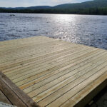 Another new Wood Dock ready for Summer in Lake Owassa, NJ.