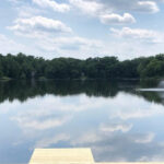 Bulkhead repairs made with a new Dock installed on Cozy Lake in Oak Ridge, NJ.