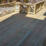 Here is a new Wood Deck with Dog Ramp built to enjoy their backyard more this summer. Once the wood cures we will Pressure Wash & Stain to protect it in Vernon, NJ.