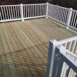 New wood Deck with RDI Endurance PVC railings in Rockaway, NJ.
