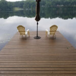 When your old Dock is no longer safe for use. Trex Transcend Decking in Havana Gold in Panther Lake, NJ.