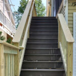House, Deck & Walls Pressure washed with Olympic Stain applied to the Decking, Railings in Landing, NJ.