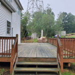 Multiple Deck & Railing Repairs made Pressure Washed with Olympic Stain in Rusted Ore applied in Jefferson Township, NJ.