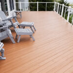 Pressure washing with Olympic Elite -Timberline color solid stain applied in Lake Hopatcong, NJ.