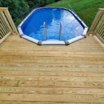 Cannonball! A new Wood Pool Deck just Built and ready for some summer fun in Lake Hopatcong, NJ.