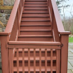 Tis' the season for Pressure Washing, Deck Repairs & Stain applications. Color =  Canyon Sunset in Columbia, NJ.