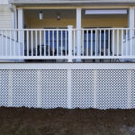 Another new Trex Transcend Deck with Spiced Rum Decking and RDI Endurance Railings just in time for Christmas in Port Murray, NJ.