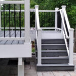 Here is a new Trex Transcend Deck in Island Mist with Trex Railings ready for the Holiday weekend in Flanders, NJ.